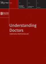 Understanding doctors: Harnessing professionalism publication cover