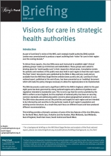 Visions for care in strategic health authorities publication cover