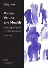 Voices, values and health publication cover