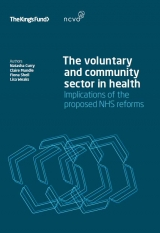 The voluntary and community sector in health publication cover