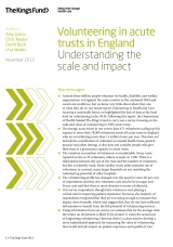 Volunteering in acute trusts in England front cover