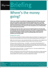 Where's the money going? briefing cover