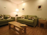 Redecorated with comfortable furnishings