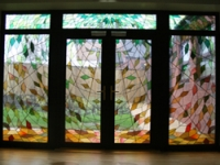 Specially designed stained glass doors