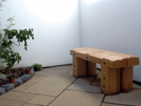 A newly created garden space