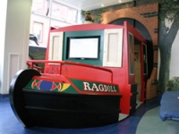 The Rosie and Jim boat in the soft play area