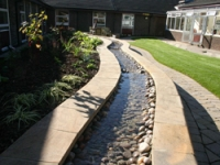 A relaxing water feature