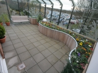 Raised flower beds allow patients and their carers to get involved with the garden