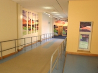 The new corridor with a signature image