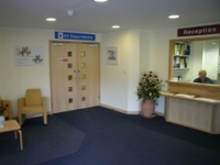 The reception area prior to the work
