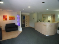 The new, more welcoming, reception