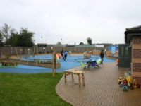 A wide range of play equipment in the new garden