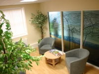 A tranquil and welcoming waiting area