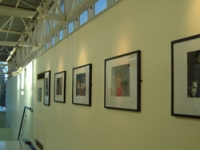 Art on display in the new gallery space