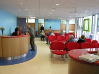 Bright colours give the clinic a vibrant feel