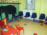 The children's waiting area before the project