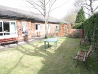 The garden was not fully accessible to older service users