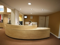 The newly designed reception area
