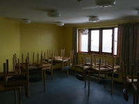 The dining room was unused, except at meal times