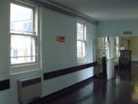 A view of the corridor prior to the project