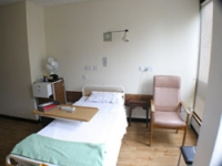 Patient area before the work