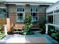 A courtyard garden was also created