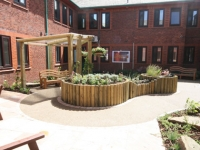 The garden was co-designed by carers and patients