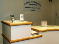 The reception area prior to the redesign