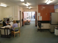 The ward entrance area before the project