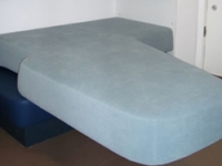 The commissioned bed also incorporates a chair