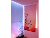 Light and colour are used in the oasis room