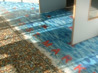 A detail from the commissioned floor design