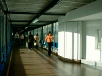 The main corridor before the project