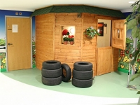 A potting shed features in the reception room