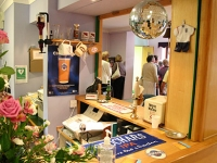 The area is transformed into a pub serving non-alcoholic drinks a few evenings a week