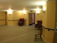 The bare corridors and hallways before the work