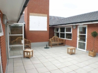 The courtyard before work began