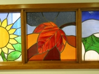 A detail form the stained glass artwork