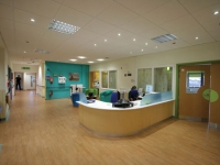 The ward entrance is now light, calming and spacious