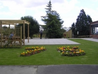 The garden can be used throughout the year