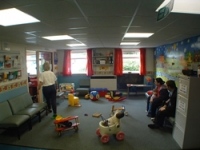 The waiting area prior to the redesign