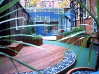 The garden is designed to stimulate the senses