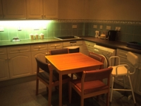 The kitchen recreates a homely environment