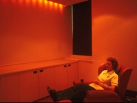 Lighting can be adjusted for relaxation therapy