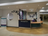 The reception desk is now easier to approach