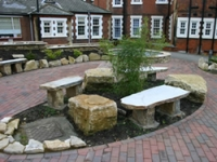 The gardens provide space for relaxation