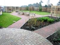 The landscaped garden