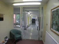 The corridor before the redesign