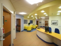 Bright colours and good lighting have transformed the waiting area