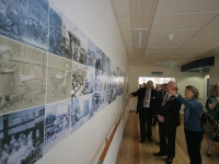 A Memory Lane mural now decorates the corridor